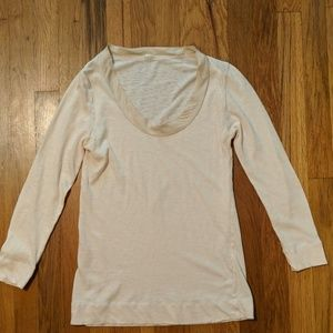 J Crew Ribbon Neck T Shirt